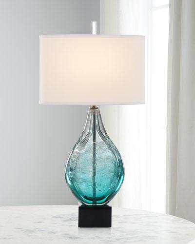 Light Azure Art Glass Lamp
