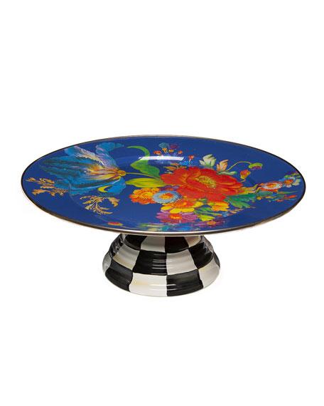 MacKenzie-Childs Flower Market Pedestal Platter