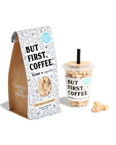 Alfred Iced Vanilla Latte Bears Mini Cup and Coffee Bag Kit