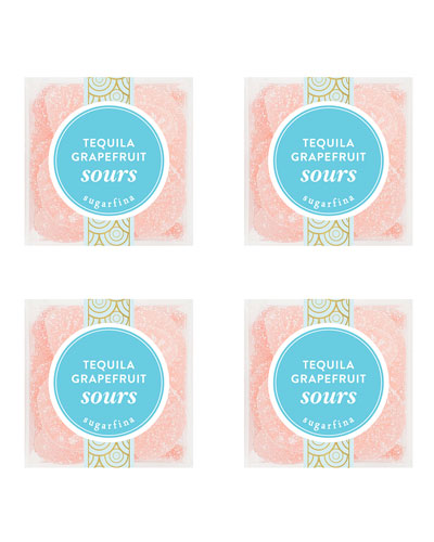 Tequila Grapefruit Sours  Small Cube 4-piece Candy Set