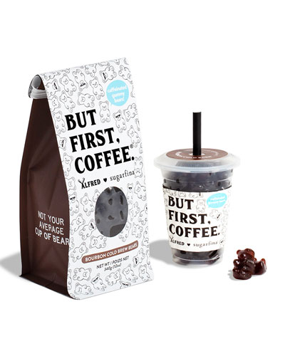 Alfred Bourbon Cold Brew Bears Mini Cup and Coffee Bag Kit