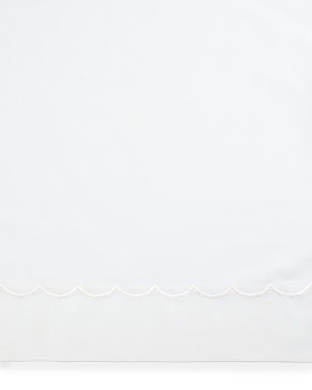 Two Standard Scallops Embroidered 350 Thread Count Pillowcases