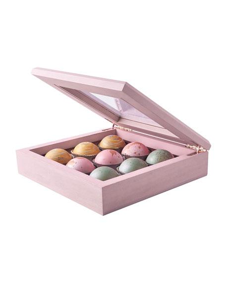 Flair Chocolatier Maple Wood Box of 9 Truffles