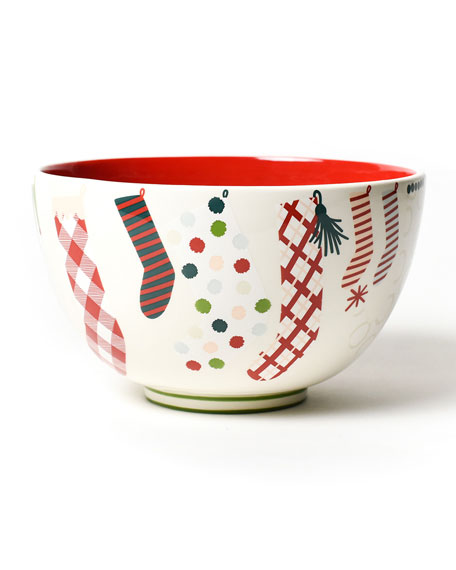 """Stockings 9"""" Footed Bowl"""