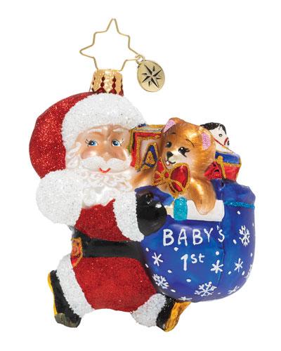 Hurry Santa Gem Christmas Ornament