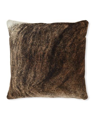 Brindle Hair Hide Brown Pillow  19Sq.