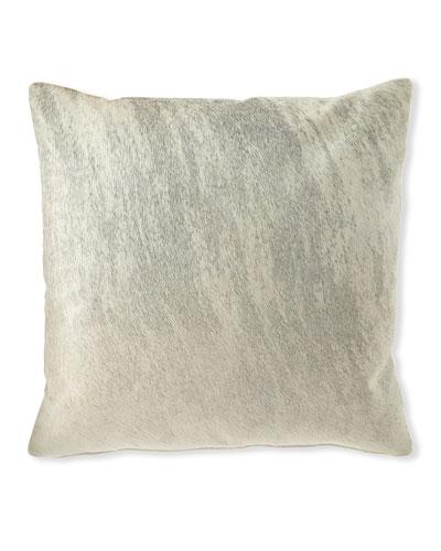 Brindle Hair Hide Gray Pillow  19Sq.