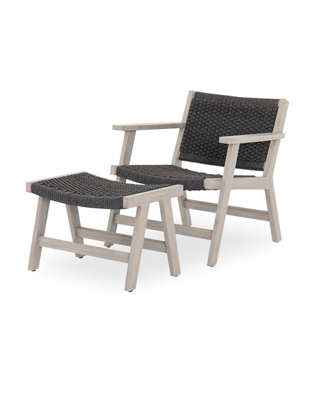 Four Hands Delano Outdoor Chair And Ottoman, 4 Hands Outdoor Furniture