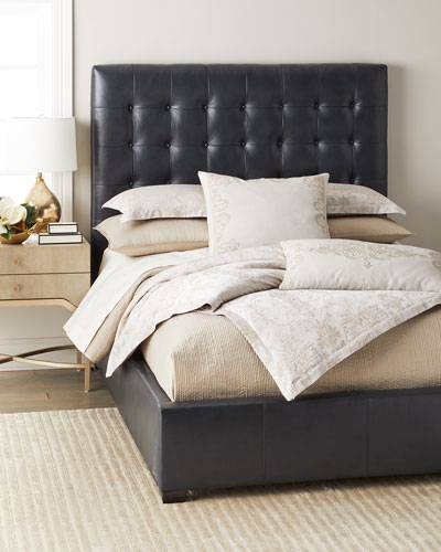 Avery Queen Leather Bed