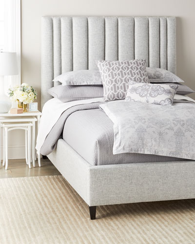 Modena Queen Upholstered Bed  Soft Putty