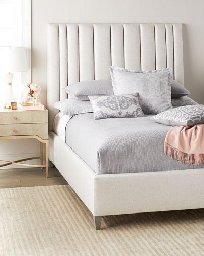 Modena King Upholstered Bed  Vanilla Cream