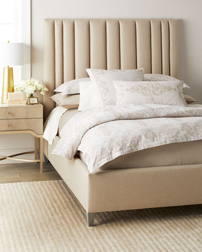 Modena Queen Upholstered Bed  Heathered Gray
