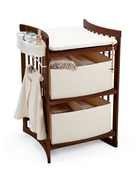 Care Changing Station, Walnut Brown Finish