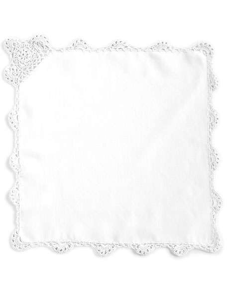 12 Crochet-Edge Luncheon Napkins