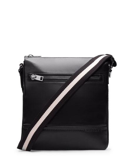 Men's Trainspotting-Stripe Leather Crossbody Bag