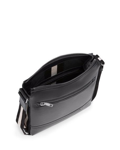 Bally Men's Trainspotting-Stripe Leather Crossbody Bag