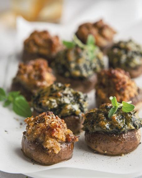Seafood-Stuffed Mushroom Caps