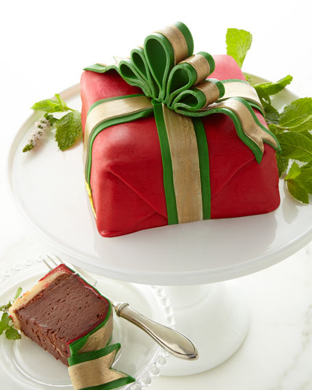 "Holiday Red ""Present"" Cake"