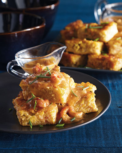 Crawfish Cornbread & Etouffee