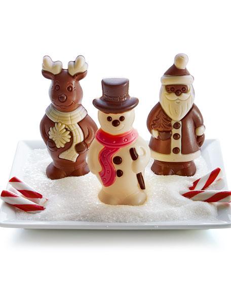 Three Chocolate Christmas Figures