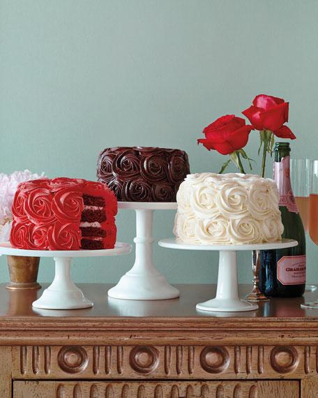 White Buttercream Rose Cake