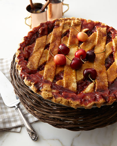 Deep-Dish Cherry Pie  For 10-12 People