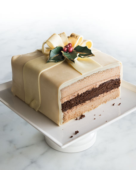 """Gift-Wrapped"" Malted Milk Chocolate Cake"