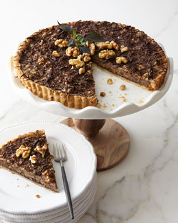 Chocolate Caramel Walnut Tart