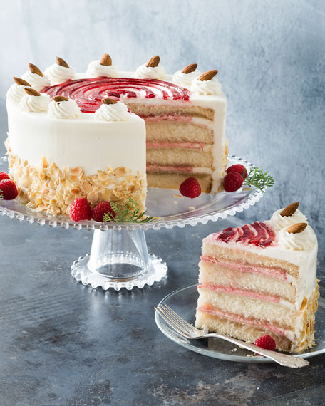 Raspberry Petit Four Cake