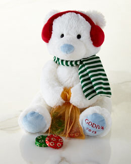 Godiva Plush Holiday Bear