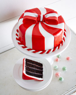 Peppermint Chocolate Ganache Cake