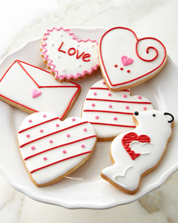 Hand-Decorated Valentine's Day Cookies