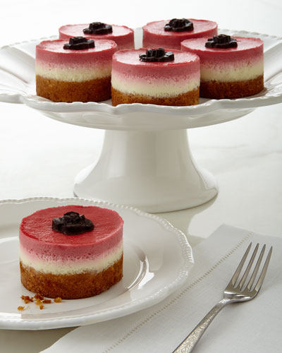 Raspberry/Lemon Mousse Cakes, Set of 6