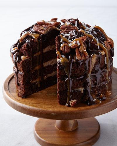 Nutty Caramel Coconut Cake
