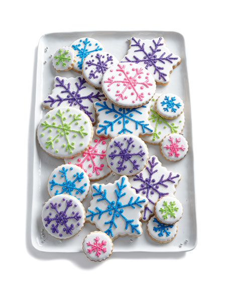Colorful Snowflake Cookies