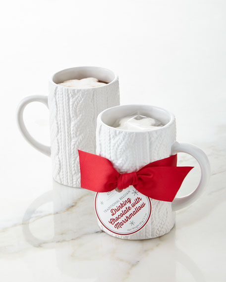 Cable-Knit Mug Gift Set