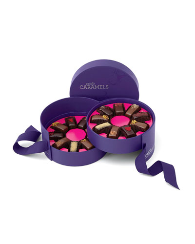 18-Piece 2-Tier Caramel Hat Box Set