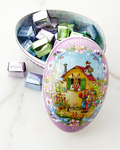 Papier-Mache Egg with Chocolate Caramels
