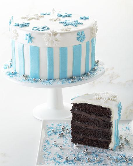Peppermint Chocolate Ganache Cake