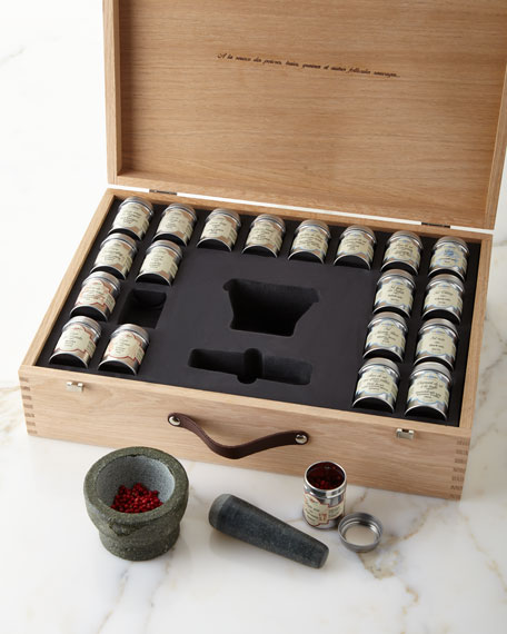 Gourmet Salt & Pepper Kit in Wooden Gift