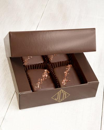 4-Piece Semi-Sweet Chocolate Truffle Fudge Bites