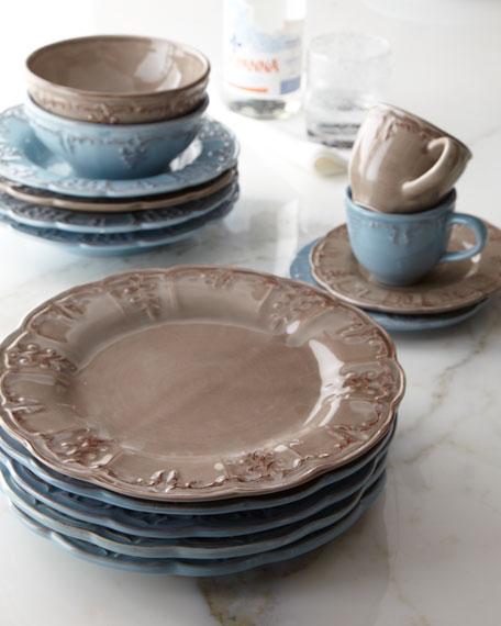 Four Fleur-de-Lis Cups & Saucers