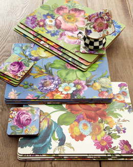 "MacKenzie-Childs ""Flower Market"" Placemats & Coasters"