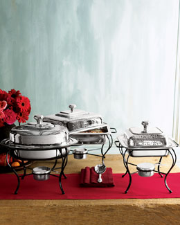 STAR HOME DESIGNS Silver Chafing Dishes