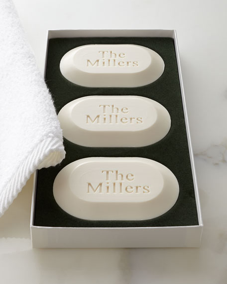 Three Oval Soaps with One Line of Personalization