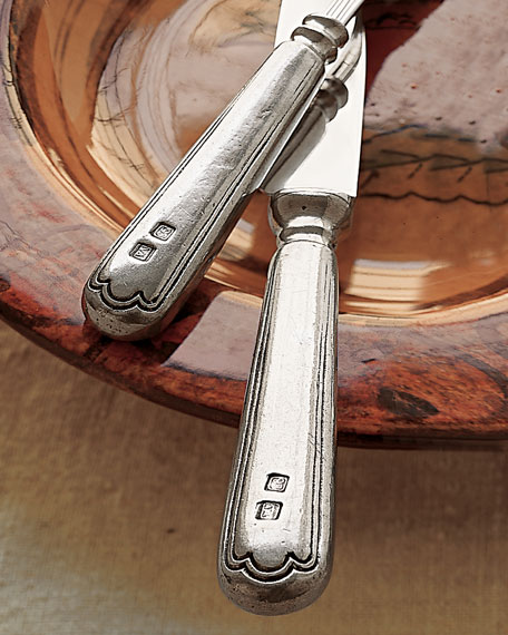 Two-Piece Filet Pewter Carving Set