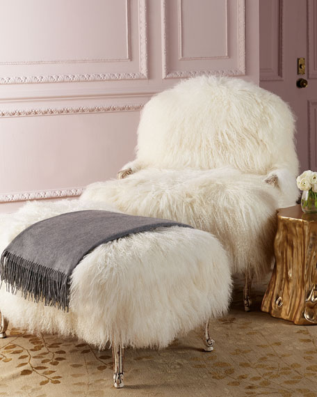 Worthen Sheepskin Bergere Chair