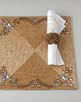 Kim Seybert Gold & White Holiday Table Linens