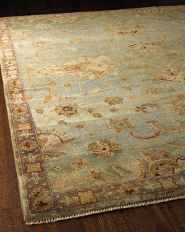 Blue Small Border Rug