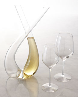 "Expert ""X"" Decanter & ""Y"" Wine Glasses"
